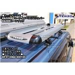 TERZO:ローライダースリムシルバーEA329ssとEA309ルーフラックを三菱デリカd5に同時装着